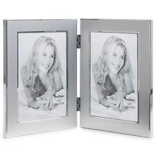 VonHaus Silver Photo Frame - Double Portrait Multi Picture Hinged