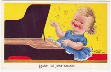 VERA PATERSON - Baby I'm Just Grand - Piano Music - #1207 - c1940s era postcard