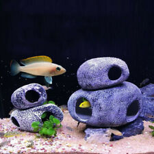 Simulation Stone Cave Ceramic Fish Tank Aquarium Pond Decor Shrimp Home Supplies