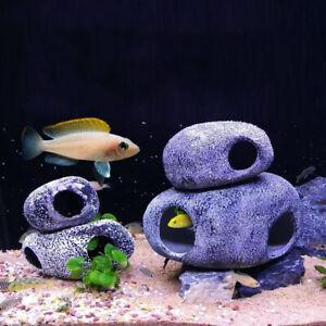 Simulation Stone Cave Ceramic Fish Tank Aquarium Pond Decor Shrimp Home Supplies