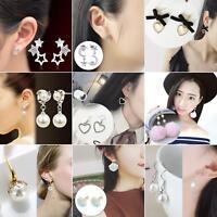 EG_ Elegant Fashion Women Lady Girls Crystal Rhinestone Flower Ear Stud Earrings