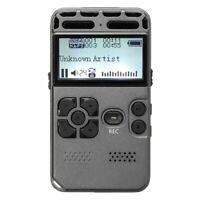 64G Rechargeable LCD Audio digital Sonido Grabador de voz dictafono Reprodu T3A9