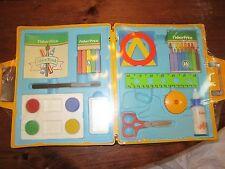 Fisher Price 700 Art Kit crayons glue chalk paint craft scissors stencil NEW toy
