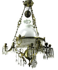 Impressive Antique 10 Light Castle Chandelier Gothic Brass Dragons Gryphons 1800