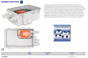 Seaflo - Duschwasser - Lenzsystem 12V