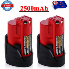 2-PK 2.5AH For Milwaukee M12 12V Li-ion Battery M12B2 C12B 48-11-2402 48-11-2411