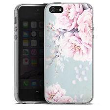 Apple iPhone 5 Silikon Hülle Case - watercolour flower