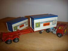 Scammell Tractor Containersattelzug, rot, Matchbox, 1 Containertür fehlt