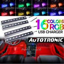 RGB Glow Color Interior Under Dash Footwell Light Bar 36 LED Strip 16 Colors USB