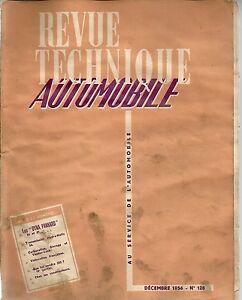 REVUE TECHNIQUE AUTOMOBILE 128 RTA 1956 PANHARD DYNA Z 1956 57 TRANS HYDRAMATIC