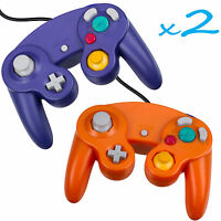2 Brand New Controller for Nintendo GameCube/Wii - Blue and Orange Cirka Brand