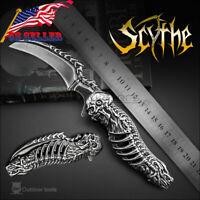 005 Death Scythe Image Vintage Folding Knife Custom Hunting Handmade 8Cr13MoV US