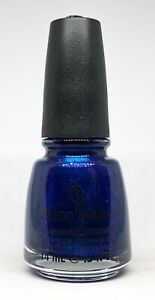China Glaze Nail Polish BLUE YEAR'S EVE 1021 Bright Blue w Glass Fleck Shimmer