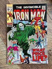 INVINCIBLE IRON MAN #19 - VF- 7.5 - 1969 / MIDAS / CAPTAIN AMERICA