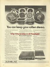Audioline Speakers 1979 Magazine Advert #716