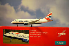 Herpa Wings 1:500 Embraer e170 British Airways G-lcyg 531092 modellairport 500