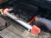 Red For 2PC 2011-2016 Dodge Charger Challenger 3.6L V6 Cold Air Intake Kit
