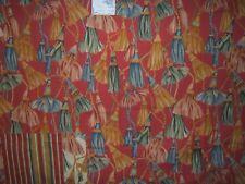"Kravet ""Kim"" novelty fabric remnant for crafts color red 61"" Wide X 38"" Long"