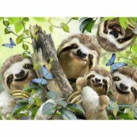 5D Diamond Painting Sloth Family DIY Full Drill Art for Home Wall Decor 30x40cm