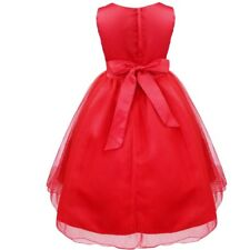 Vestido deGala Boda Fiesta para Nina Chica Flor Brillante Lentejuelas Ceremonia