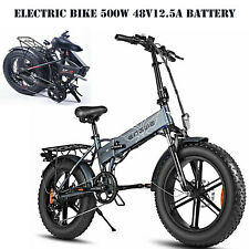Electric Bike 20*4.0inch Folding Bicycle 500w 48v12.5a Battery Mountain Cycling