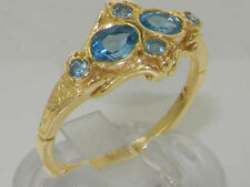 Topaz Natural Yellow Gold Fine Gemstone Rings