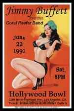 """Framed Vintage Style Rock n Roll Poster """"JIMMY BUFFETT, 1991""""; 12x18"""