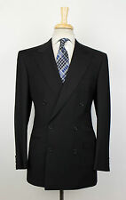 New. BRIONI Caligola 21 Black Wool Double Breasted Suit Size 50/40 S $7595
