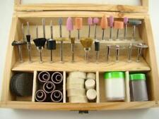 100 Rotary Tool Accessories Wooden Box Drill Dremel Kit - Hobby-Models- (B84)