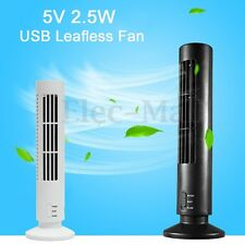NEW Mini Portable USB Cooling Air Conditioner Purifier Tower Bladeless Desk Fan