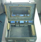 Antique VICTORIAN FRENCH ENAMELED Necessaire VANITY TRAVEL CASE Made in ENGLAND