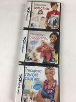 3 Nintendo DS Imagine Video Game Series Teacher Resort Owner Babysitter