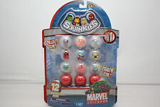 MARVEL UNIVERSE SQUINKIES SET 12 FIGURES CAPTAIN AMERICA SPIDER MAN THOR MIP