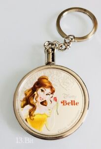 Disney Beauty & The Beast Silver Plated Belle New Zealand Coin Replica Keychain