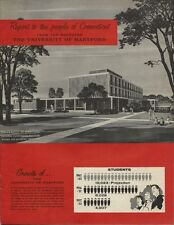 1958 Oversize Booklet - Report to The People of CT on The University of Hartford