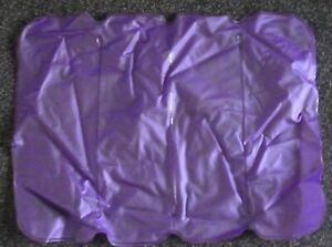 NEW- PURPLE, BLEW UP PILLOW FROM SAFARI SUB- USE FOR TRAVEL/ CAMPING /BATH