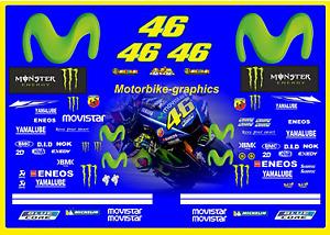 Yamaha Moto GP Factory Rossi 2017 Decal Graphics Set