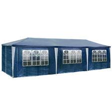 Gazebo da giardino tendone tenda per festa party con parti laterali 9x3 m blu nu