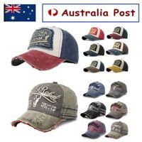 Unisex Mens Baseball Cap Adjustable Snapback Trucker Sport Visor Outdoor Sun Hat