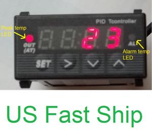 Digital EGT Thermometer 12V DC Pyrometer Temperature Control Gauge Auto Meter