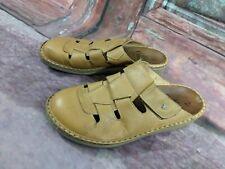 Finn Comfort Sandals Slides Women Size 40 US 10 Tan Leather Slip on