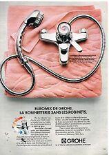 Publicité Advertising 1982 La Robinetterie Grohe