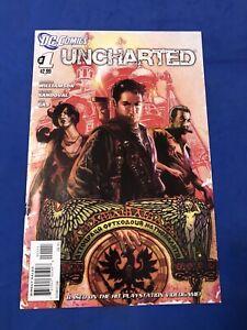 UNCHARTED #1 Nathan Drake Movie Tom Holland!!! HTF Low Print DC Comics 2012 NM+
