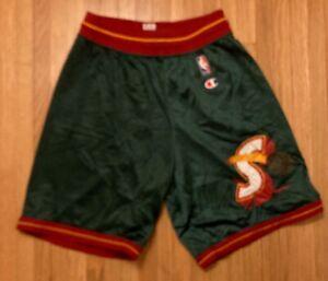 Vintage Seattle Supersonics NBA Champion Basketball Shorts - Men's Medium