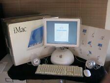 Vtg Apple iMac G4 Computer Lucite Speakers Monitor Mouse & Keyboard Desktop Box