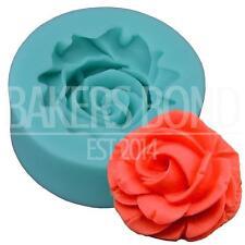 Flor De Silicona Molde (3,8 Cm X 1,5 Cm) Fondant Icing Pastel Cupcake Topper Hornear