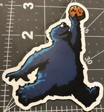 "Cookie Monster Dunk Basketball Fly Parody Funny Punk Goth Cool Snacks 3"" Sticker"