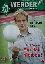 Programm 2004/05 SV Werder Bremen - FC Nürnberg / Hamburger SV