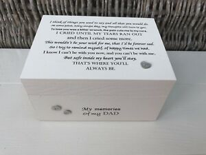 Personalised In Memory Of Box Loved One ~ DAD ~ any Name Bereavement Loss