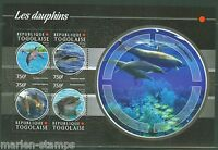 TOGO 2015  DOLPHINS  SHEET  MINT NEVER HINGED